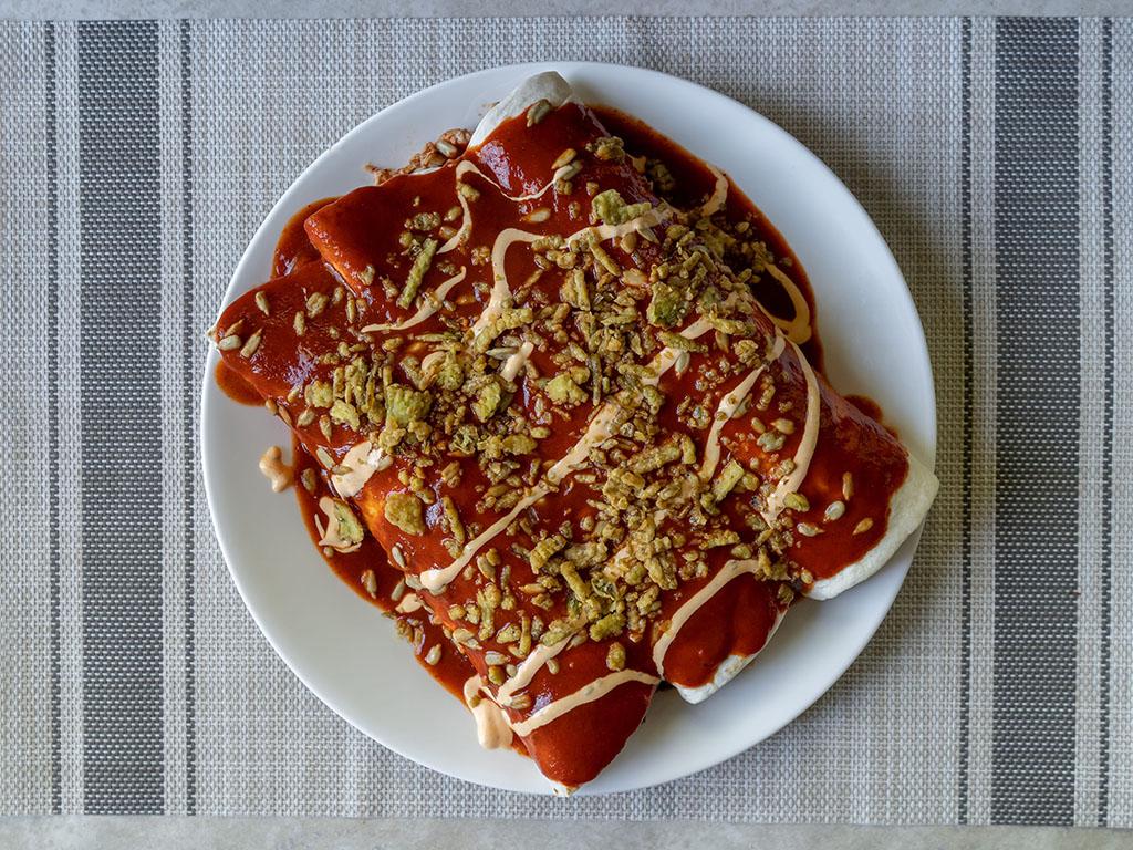 Enchiladas With Rosarita Enchilada Sauce