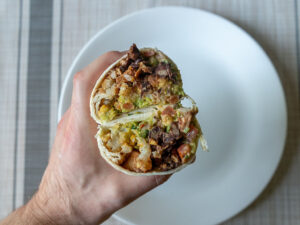 Burrito with crispy crowns